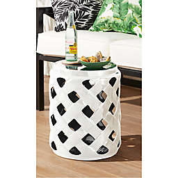 W Home™ Stonington Ceramic Lattice Accent Table