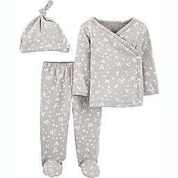 carter's® Newborn 3-Piece Floral Take Me Home Set in Grey