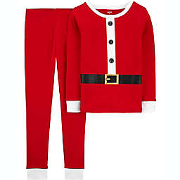 carter's® Size 7 2-Piece Santa Pajama Set in Red