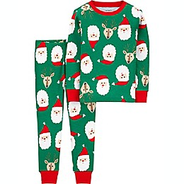 carter's® 2-Piece Santa 100% Snug Fit Cotton Pajama Set in Green