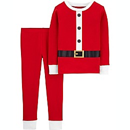 carter's® 2-Piece Santa Toddler Pajama Set in Red
