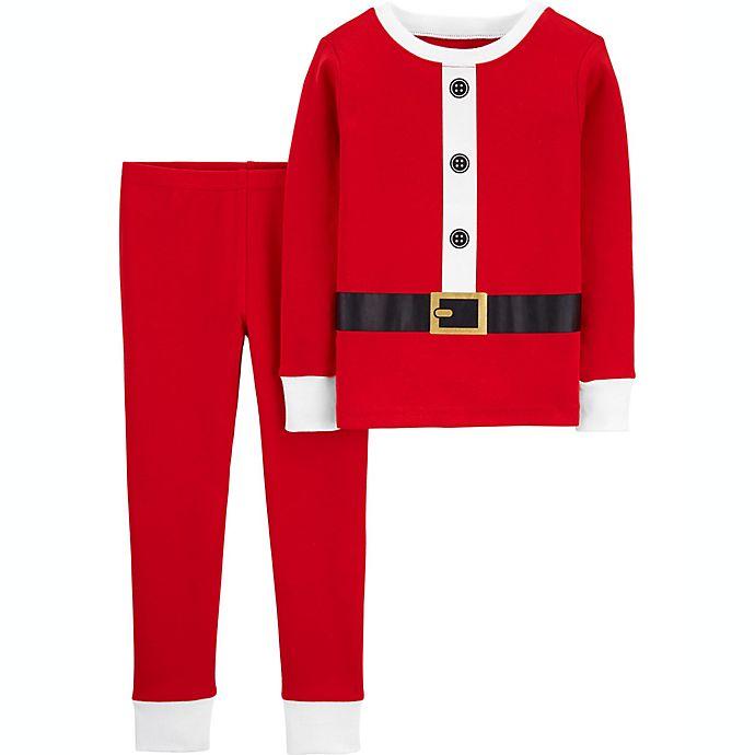 Alternate image 1 for carter's® 2-Piece Santa Toddler Pajama Set in Red