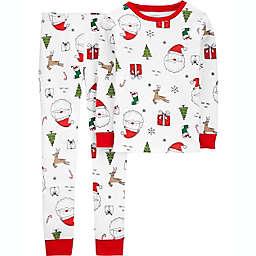 carter's® 2-Piece Santa Print Pajama Set