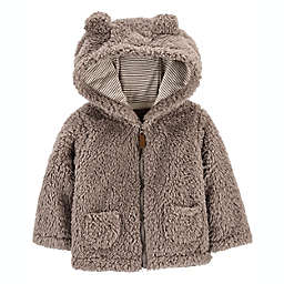 carter's® Size 6M Hooded Sherpa Jacket in Khaki