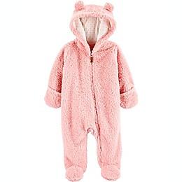 carter's® Hooded Sherpa Pram in Pink