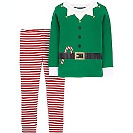 carter's® Size 2T 2-Piece Organic Cotton Elf Pajama Set in Green
