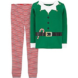 carter's® 2-Piece Elf Pajama Set in Green