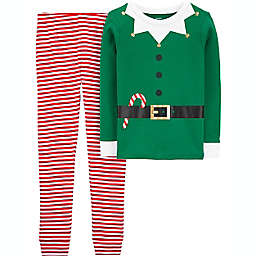 carter's® Size 8 2-Piece Elf Pajama Set in Green