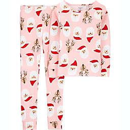 carter's® Size 4 2-Piece Reindeer Christmas Pajama Set