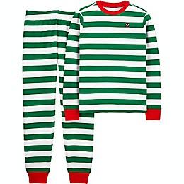 carter's® 2-piece Adult Christmas Stripe Thermal Pajama Set