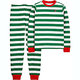carter's® 2-piece Adult Christmas Stripe Thermal Pajama Set