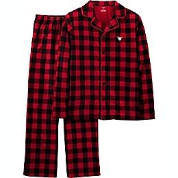 carter's® 2-Piece Adult Christmas Coat Style Buffalo Check Fleece Pajama Set