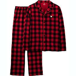 carter's® 2-Piece Adult Large Christmas Coat Style Buffalo Check Fleece Pajama Set