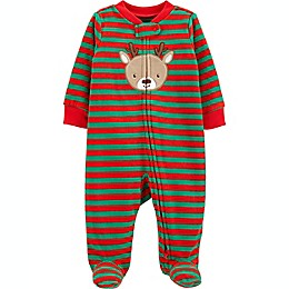 carter's® Reindeer Fleece Sleep 'N Play in Red/Green