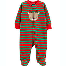 carter's® Nebworn Reindeer Fleece Sleep 'N Play in Red/Green