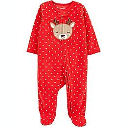 carter's® Reindeer Dot Fleece Sleep 'N Play in Red
