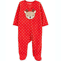 carter's® Reindeer Dot Fleece Sleep 'N Play in Red