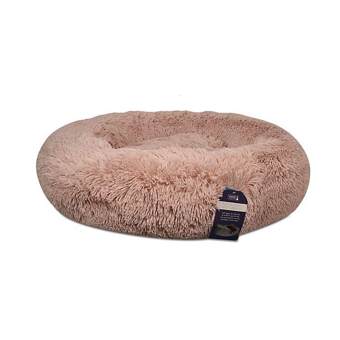 Alternate image 1 for Calming Vegan Fur Round Pet Bed