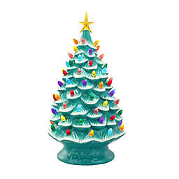 Mr. Christmas® 24-Inch Pre-Lit Nostalgic Christmas Tree Ornament in Teal