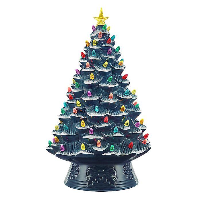 Alternate image 1 for Mr. Christmas® Nostalgic 18-Inch Ceramic LED Tabletop Christmas Tree