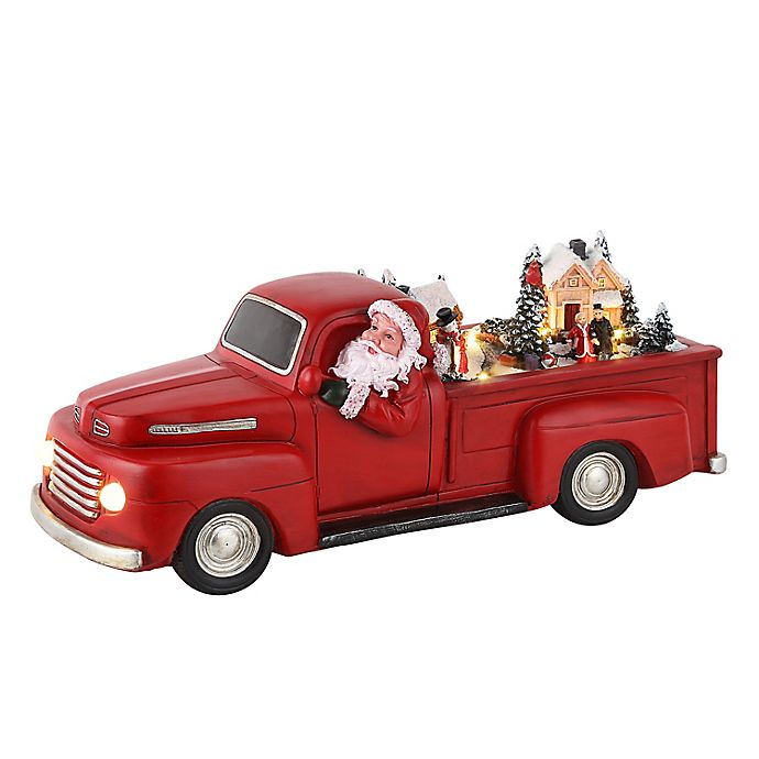Alternate image 1 for Mr. Christmas® 14-Inch Animated Christmas Truck in Red