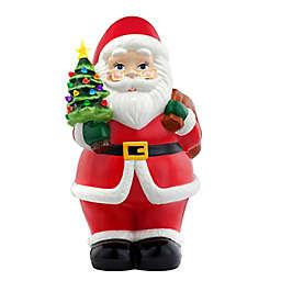 Mr. Christmas® 22-Inch Pre-Lit Ceramic Santa Claus Nostalgic Figurine in Red