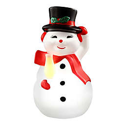 Mr. Christmas® 24-Inch Plastic Blow Mold Lit Snowman Figure in White