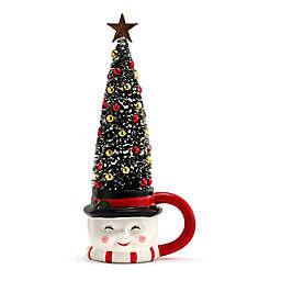 Mr. Christmas® Snowman Mug with LED Lit Sisal Decorated Christmas Tree