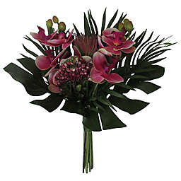 W Home 17-Inch Orchid Cipyrus Bouquet in Fuchsia