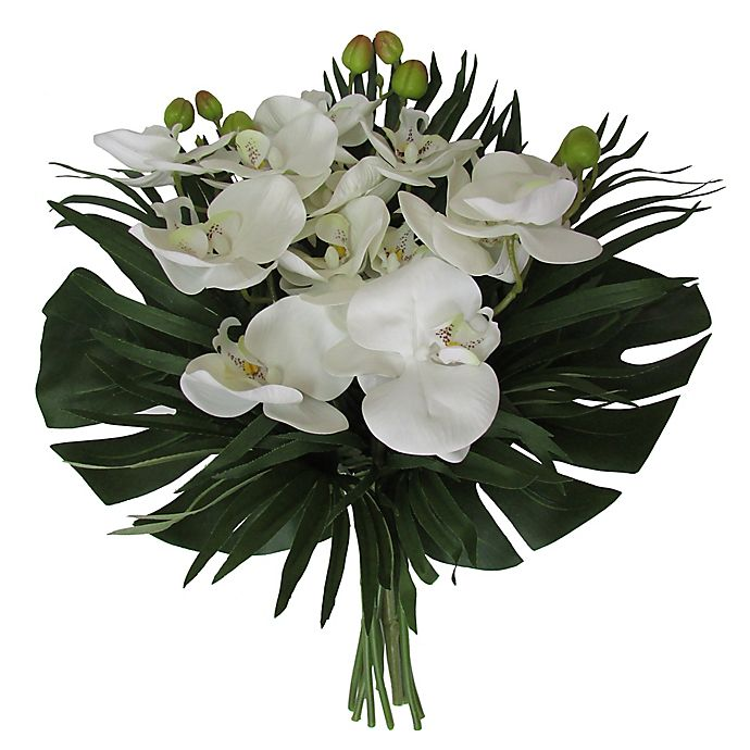 Alternate image 1 for W Home 17-Inch Phalaenopsis Orchid Bouquet in White