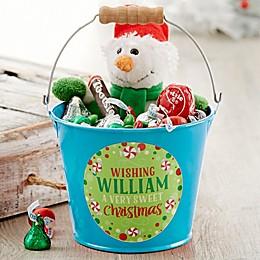 Sweet Christmas Personalized Mini Metal Bucket