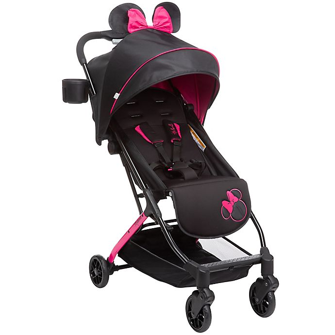 Alternate image 1 for Disney Baby® Minnie Mouse Ultra Compact Single Stroller in Pink