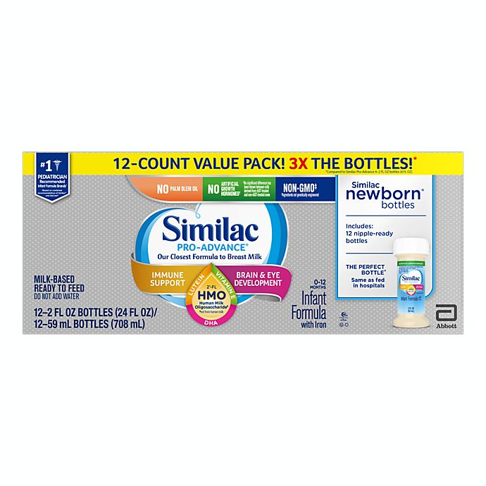 Alternate image 1 for Similac Pro-Advance® 12-Pack Non-GMO 12 oz. Ready to Feed Infant Formula