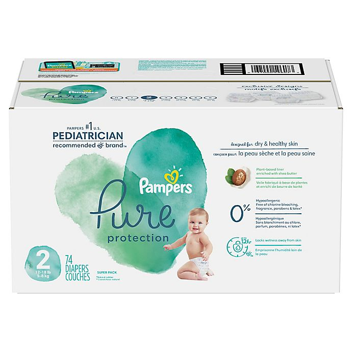 Alternate image 1 for Pampers® Pure Protection Size 2 74-Count Disposable Diapers