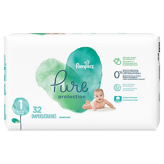 Alternate image 1 for Pampers® Pure Protection 35-Count Size 1 Disposable Diapers