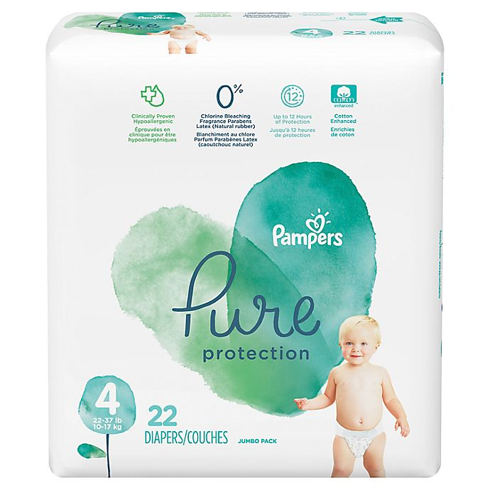 Alternate image 1 for Pampers® Pure Protection 23-Count Size 4 Disposable Diapers