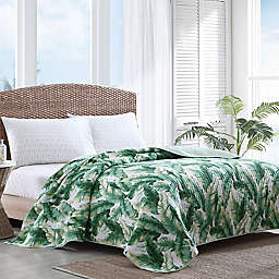 Tommy Bahama® Anguilla Botanical Reversible Quilt in Jungle Green