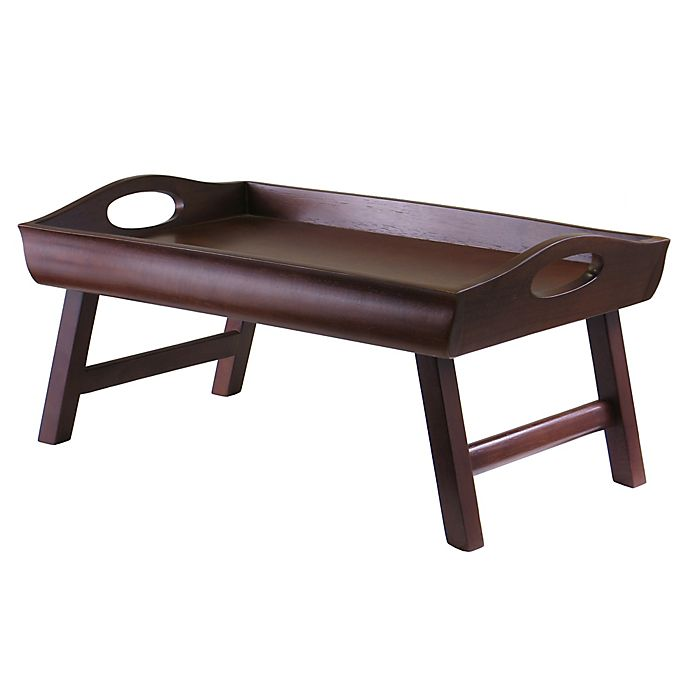 Alternate image 1 for Sedona Bed Tray with Handles in Walnut
