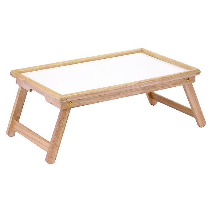 Alternate image 1 for Ventura Bed Tray with Handles in White/Natural