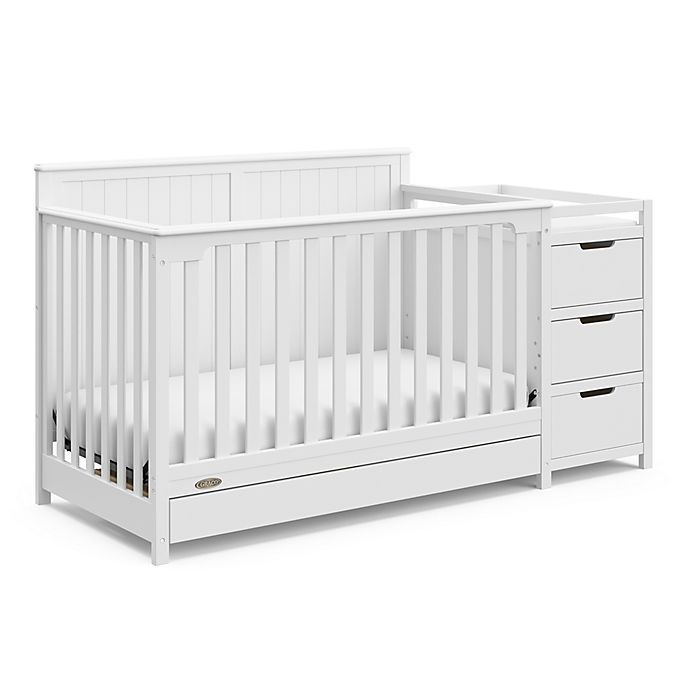 Alternate image 1 for Graco® Hadley 4-in-1 Convertible Crib and Changer