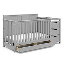 Graco® Hadley 4-in-1 Convertible Crib and Changer in Pebble Grey