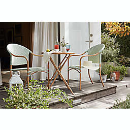 Bee & Willow™ Home Nantucket Faux Wood Folding Bistro Table in Neutral