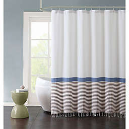 VCNY Home 72-Inch x 72-Inch Hugo Striped Shower Curtain in Blue