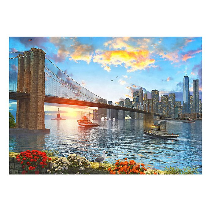 Alternate image 1 for Brooklyn Bridge At Sunset 1500-Piece Jigsaw Puzzle