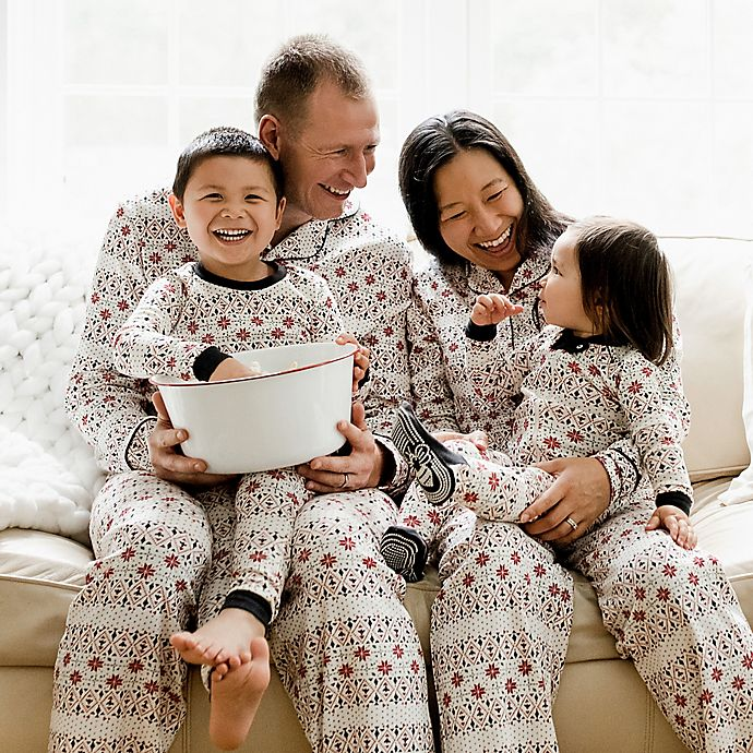 Alternate image 1 for Burt's Bees Baby® Bold Fair Isle Organic Cotton Holiday Family Jammies Collection