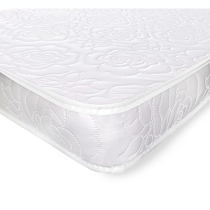 Alternate image 1 for Rose Quilt Portable Crib Mattress in White by Colgate Mattress®