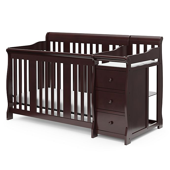 Alternate image 1 for Storkcraft™ Portofino 4-in-1 Convertible Crib and Changer in Espresso