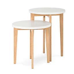 Child Craft™ Forever Eclectic™ Geo 2-Piece Nesting Table Set in White/Natural