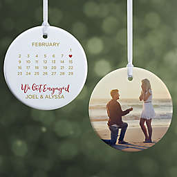 A Date to Remember 2.85-Inch 2-Sided Porcelain Christmas Ornament in White