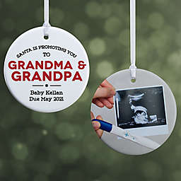"""""""Promoted to..."""" 2.85-Inch Porcelain Christmas Ornament in White"""